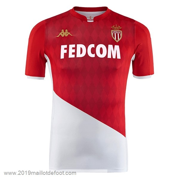Domicile Maillot AS Monaco 2019 2020 Rouge Blanc Maillot Foot Promo