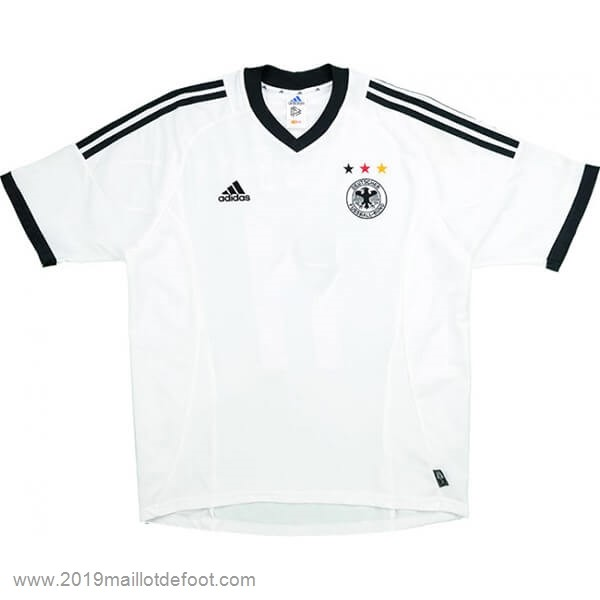 Domicile Maillot Allemagne Retro 2002 Blanc Maillot Foot Promo