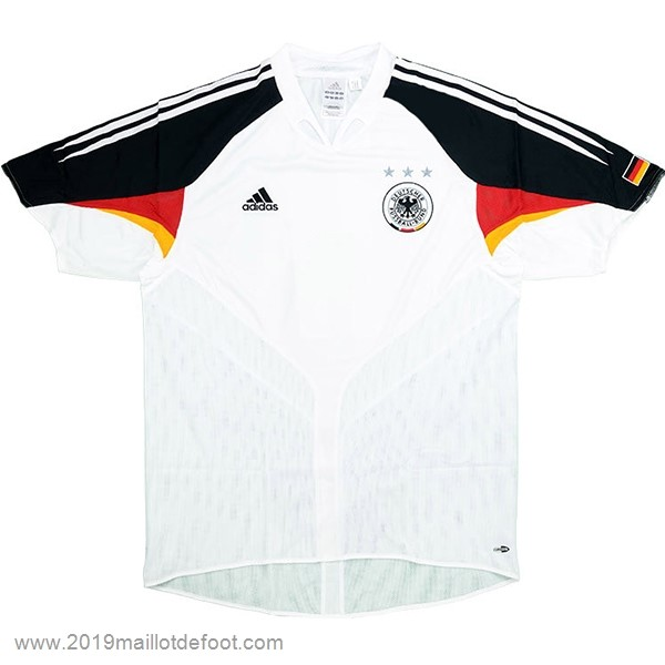 Domicile Maillot Allemagne Retro 2004 Blanc Maillot Foot Promo