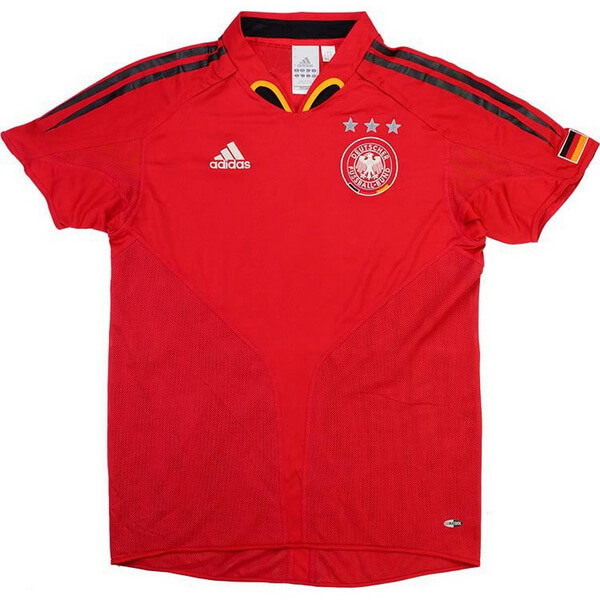 Exterieur Maillot Allemagne Retro 2004 2006 Rouge Maillot Foot Promo