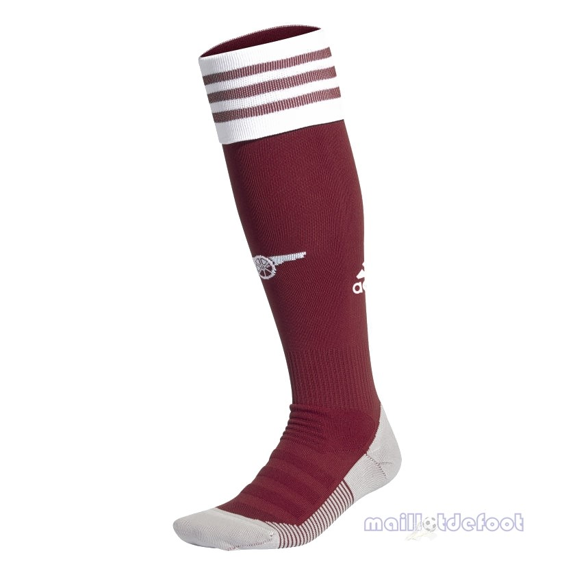 Domicile Chaussette Arsenal 2020 2021 Rouge Maillot Foot Promo