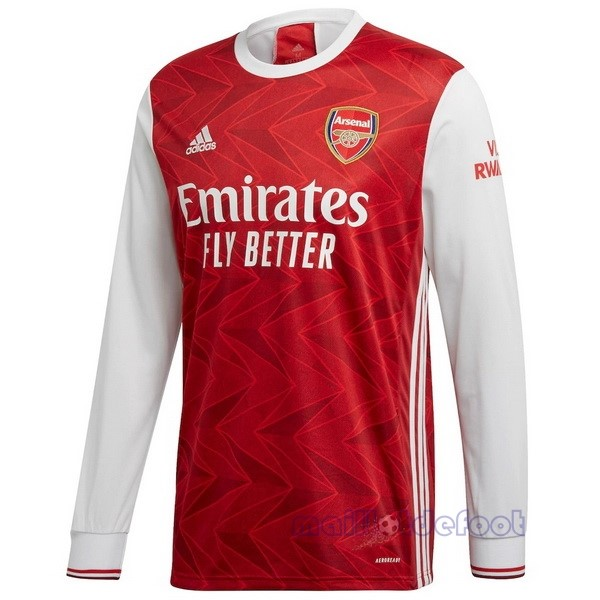 Domicile Manches Longues Arsenal 2020 2021 Rouge Maillot Foot Promo