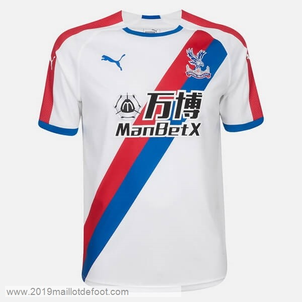 Exterieur Maillot Crystal Palace 2018 2019 Blanc Maillot Foot Promo