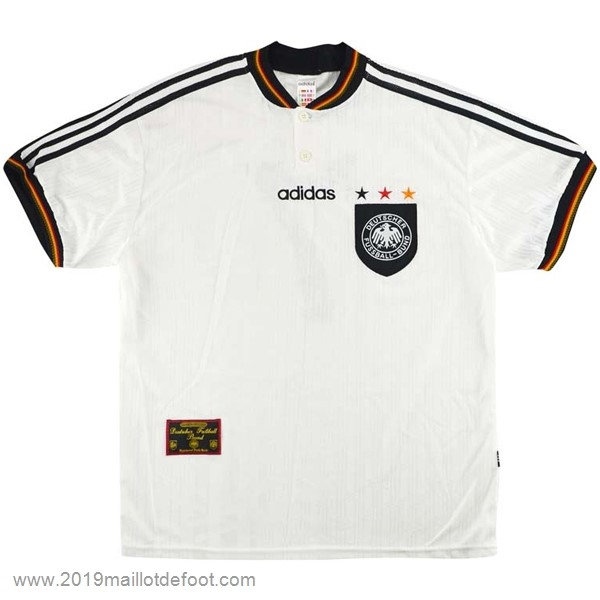 Domicile Maillot Allemagne Retro 1996 Blanc Maillot Foot Promo