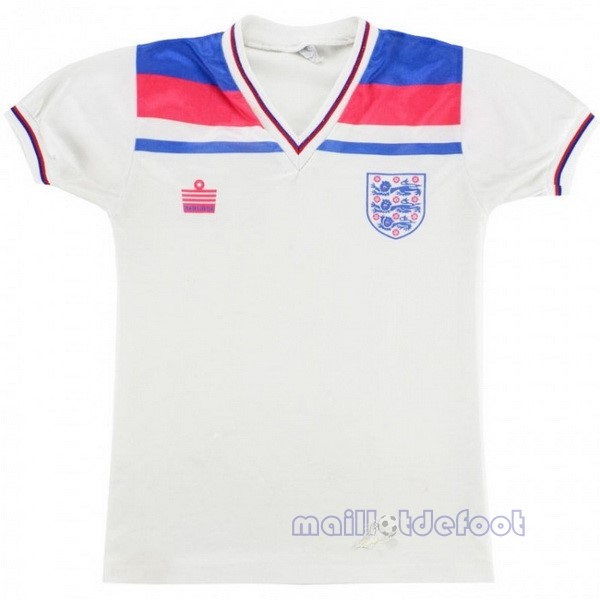 Domicile Maillot Angleterre Rétro 1980 Blanc Maillot Foot Promo