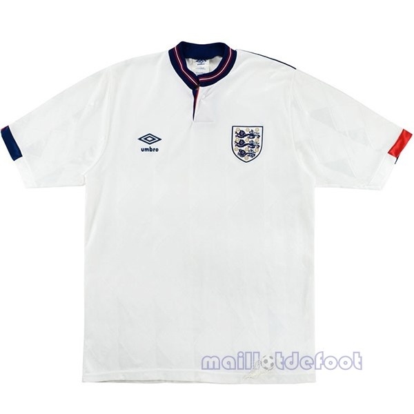 Domicile Maillot Angleterre Rétro 1989 Blanc Maillot Foot Promo
