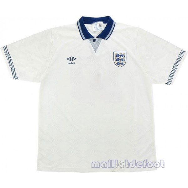 Domicile Maillot Angleterre Rétro 1990 Blanc Maillot Foot Promo