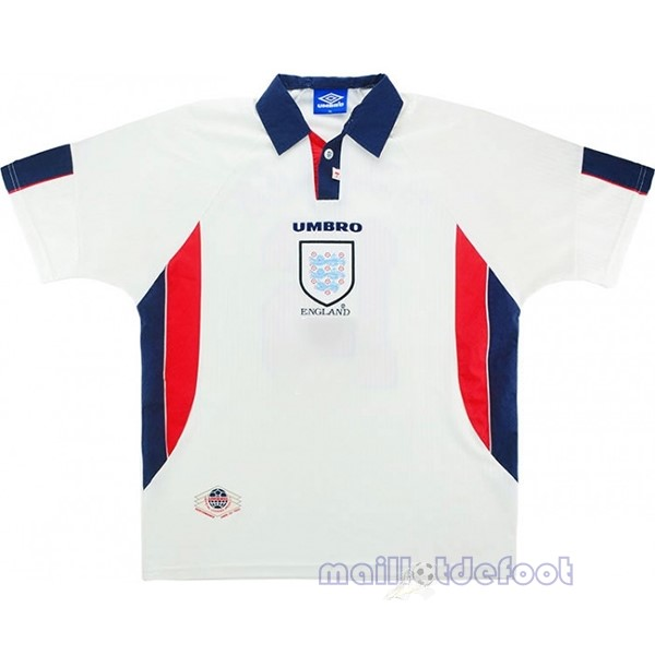 Domicile Maillot Angleterre Rétro 1998 Blanc Maillot Foot Promo