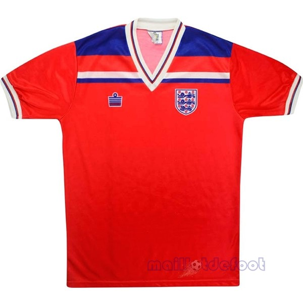 Exterieur Maillot Angleterre Rétro 1980 Rouge Maillot Foot Promo