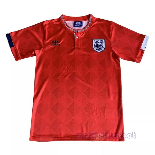Exterieur Maillot Angleterre Rétro 1989 Rouge Maillot Foot Promo