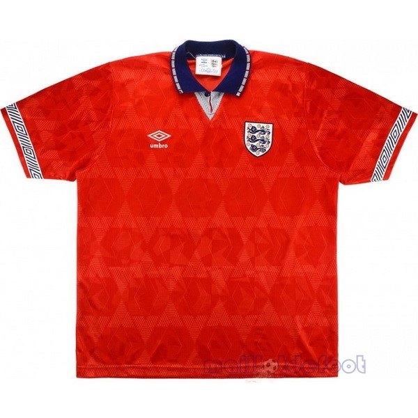 Exterieur Maillot Angleterre Rétro 1990 Rouge Maillot Foot Promo