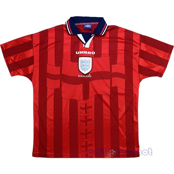 Exterieur Maillot Angleterre Rétro 1998 Rouge Maillot Foot Promo