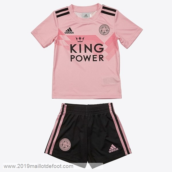 Exterieur Ensemble Enfant Leicester City 2019 2020 Rose Maillot Foot Promo