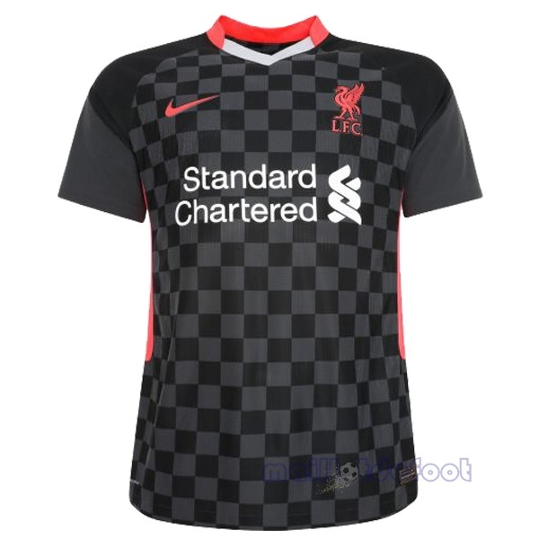 Thailande Third Maillot Liverpool 2020 2021 Noir Maillot Foot Promo