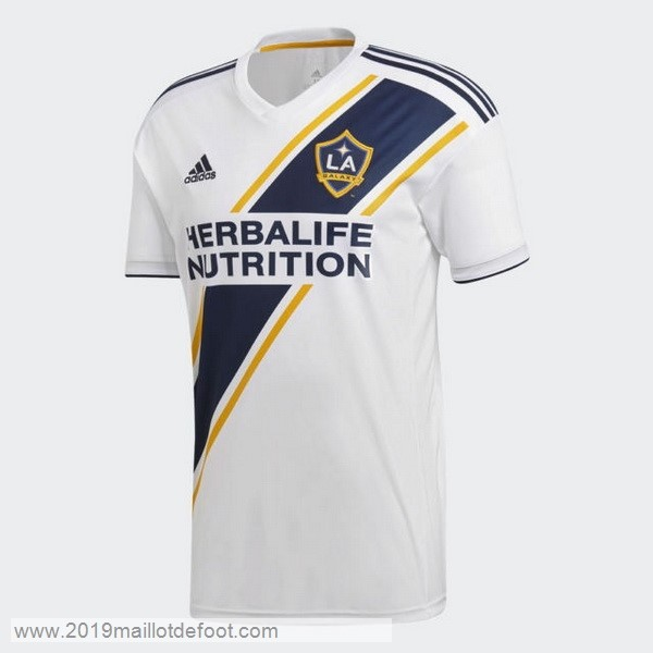 Domicile Maillot Los Angeles Galaxy 2018 2019 Blanc Maillot Foot Promo