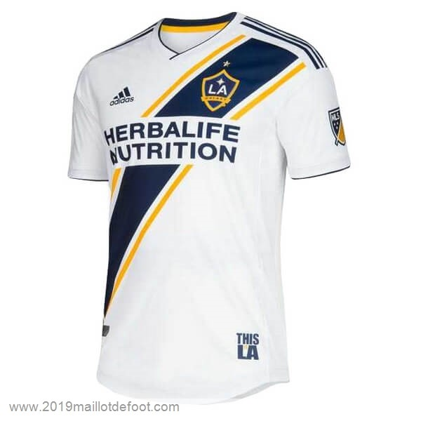 Domicile Maillot Los Angeles Galaxy 2019 2020 Blanc Maillot Foot Promo