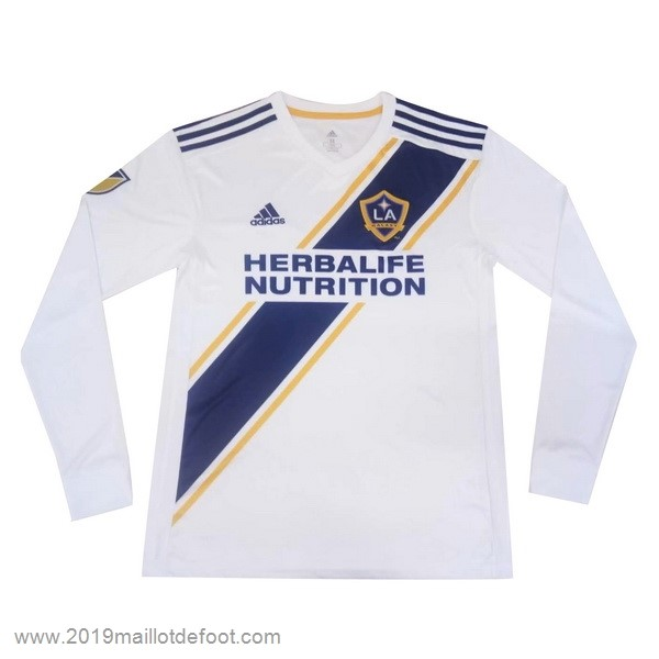 Domicile Manches Longues Los Angeles Galaxy 2019 2020 Blanc Maillot Foot Promo