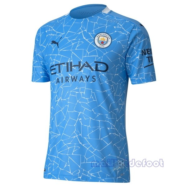 Domicile Maillot Manchester City 2020 2021 Bleu Maillot Foot Promo