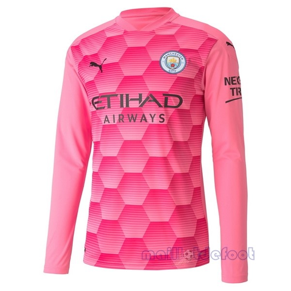 Third Manches Longues Gardien Manchester City 2020 2021 Rose Maillot Foot Promo