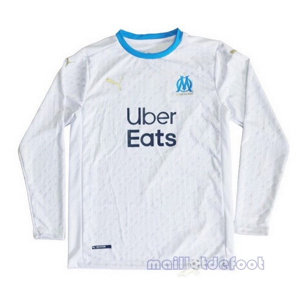 Domicile Manches Longues Marseille 2020 2021 Blanc Maillot Foot Promo