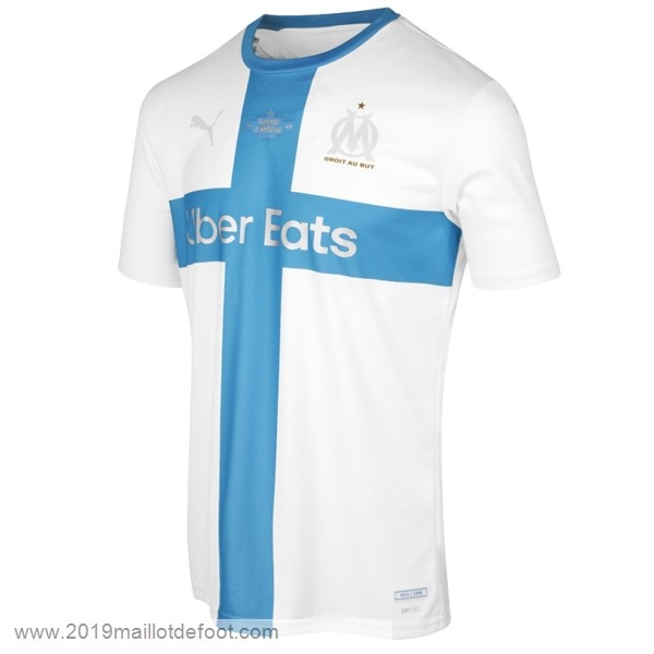 Maillot Marseille 120th Bleu Blanc Maillot Foot Promo