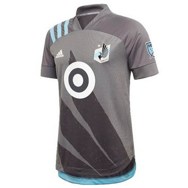 Domicile Maillot Minnesota United 2020 2021 Gris Maillot Foot Promo