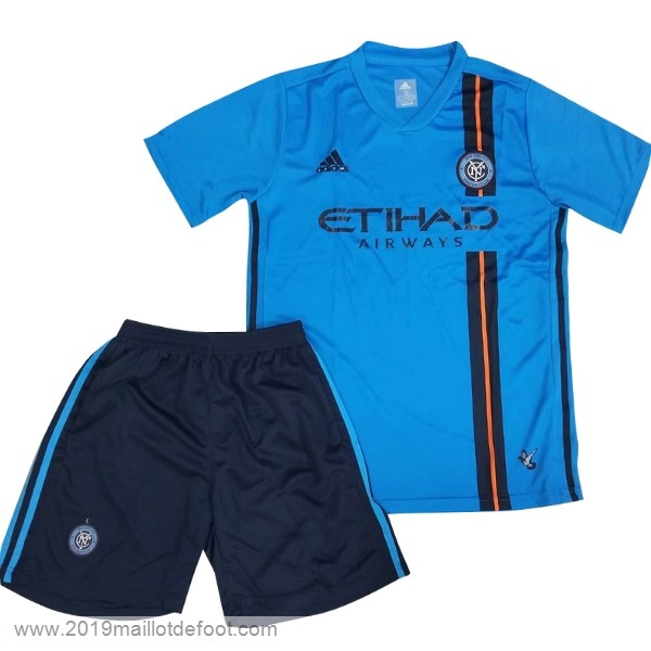 Domicile Ensemble Enfant New York City 2019 2020 Bleu Maillot Foot Promo