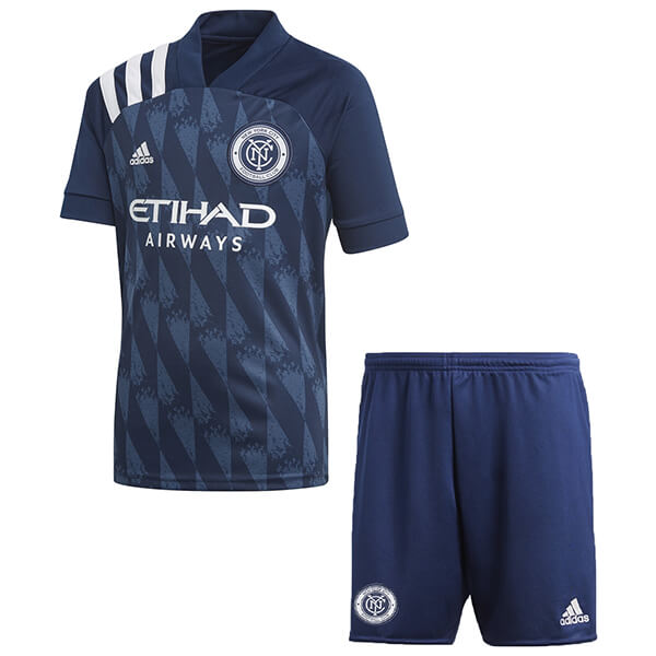 Domicile Ensemble Enfant New York City 2020 2021 Bleu Maillot Foot Promo