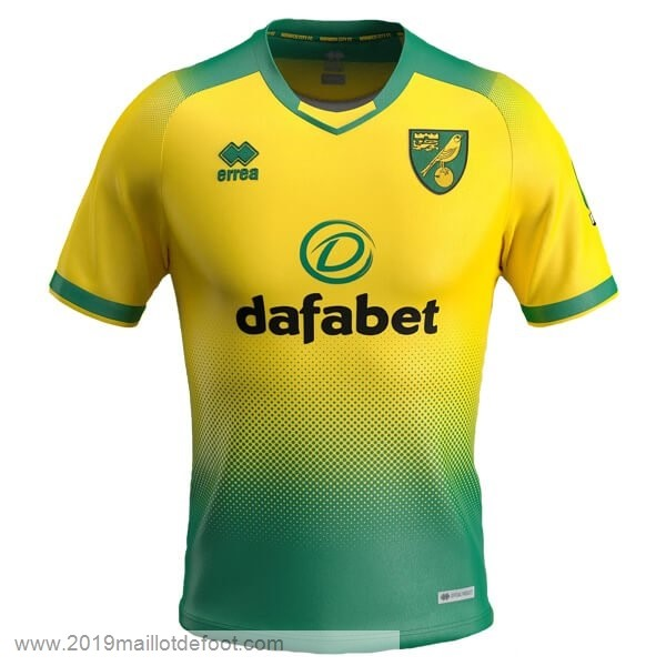 Domicile Maillot Norwich City 2019 2020 Vert Maillot Foot Promo