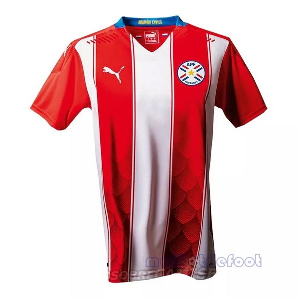 Casa 20.00 Camiseta Paraguay 2020 Rouge Maillot Foot Promo
