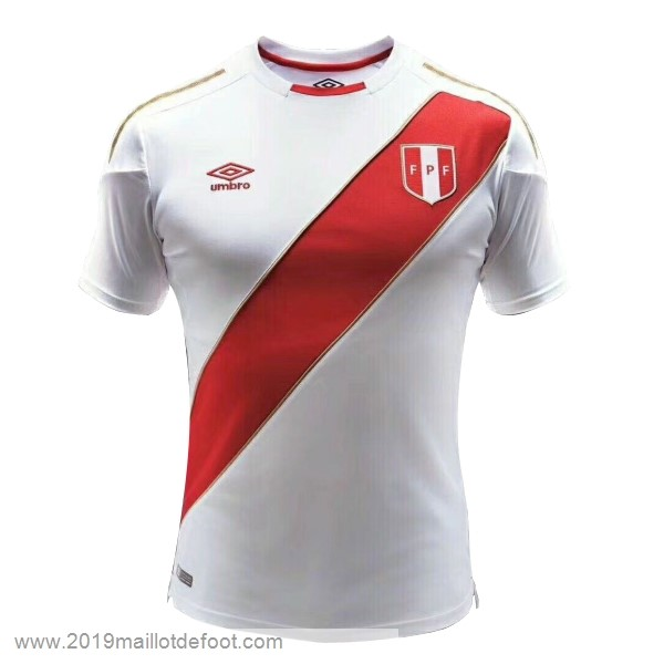 Domicile Maillot Perú 2018 Blanc Maillot Foot Promo