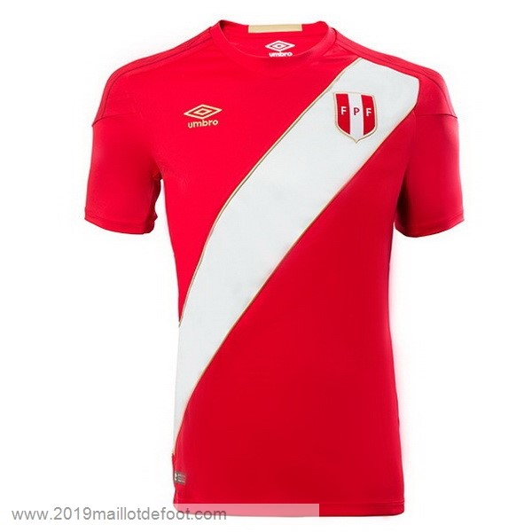 Exterieur Maillot Perú 2018 Rouge Maillot Foot Promo