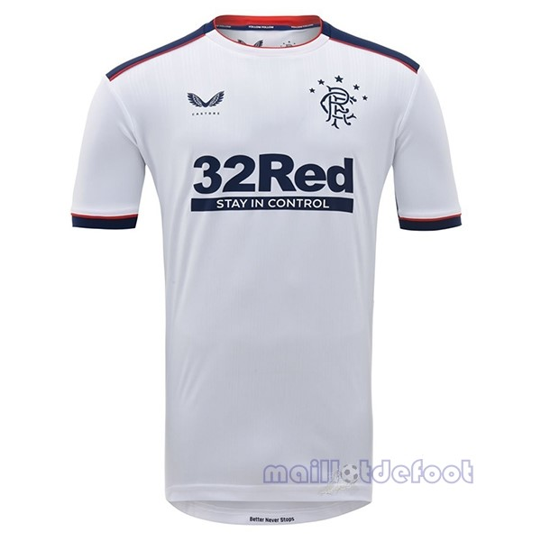 Exterieur Maillot Rangers 2020 2021 Blanc Maillot Foot Promo