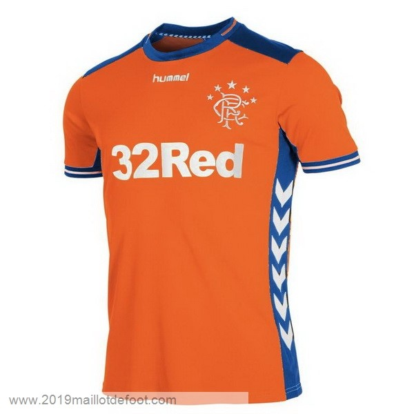 Third Maillot Rangers 2018 2019 Orange Maillot Foot Promo