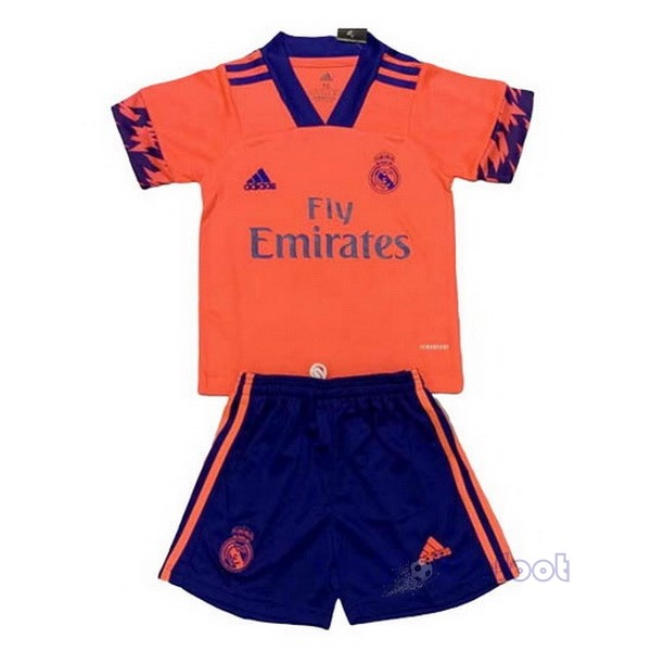 Concept Conjunto De Enfant Real Madrid 2020 2021 Orange Maillot Foot Promo