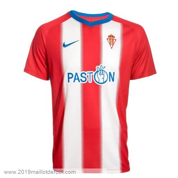 Domicile Maillot Real Sporting de Gijón 2018 2019 Rouge Maillot Foot Promo