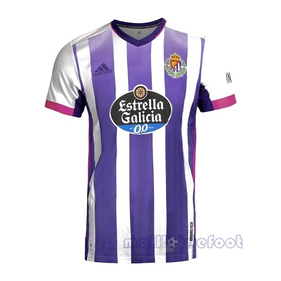 Domicile Maillot Real Valladolid 2020 2021 Blanc Purpura Maillot Foot Promo