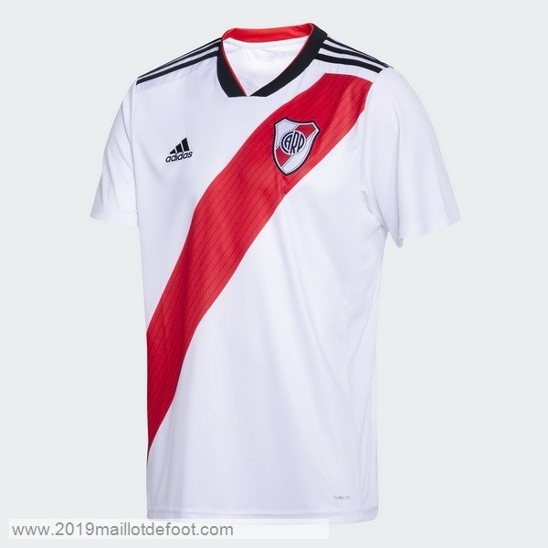 Domicile Maillot River Plate 2018 2019 Blanc Maillot Foot Promo