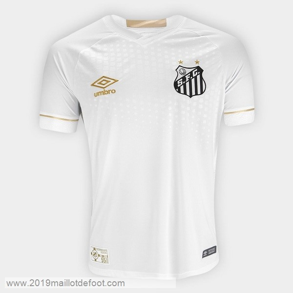 Domicile Maillot Santos 2018 2019 Blanc Maillot Foot Promo