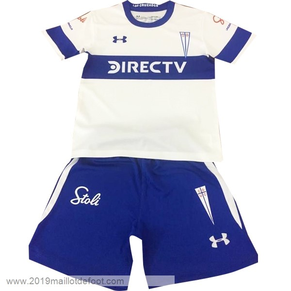 Domicile Ensemble Enfant Universidad Católica 2019 2020 Blanc Maillot Foot Promo