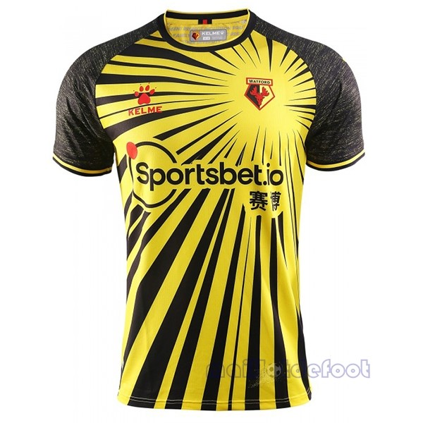 Domicile Maillot Watford 2020 2021 Jaune Maillot Foot Promo